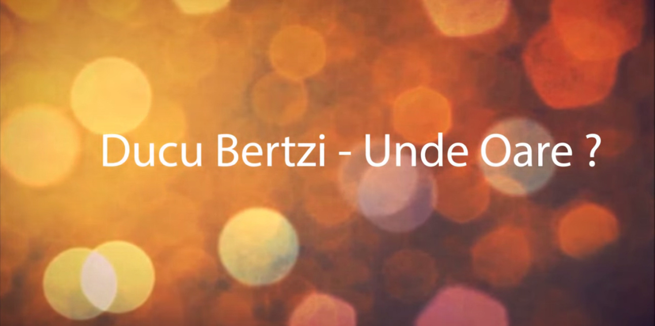 Ducu Bertzi – Unde oare? – Lyrics video