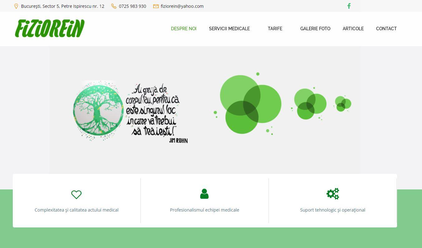 www.fiziorein.ro – Website